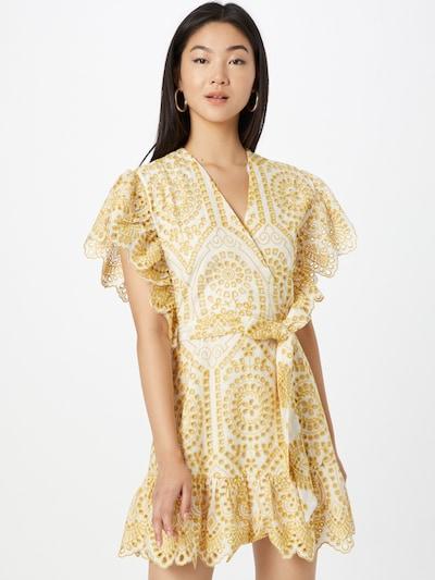 MINKPINK Robe de cocktail 'WHILMA' en or / blanc, Vue avec modèle