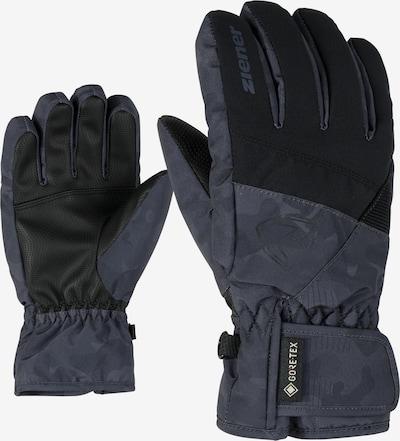 ZIENER Skihandschuhe 'LEIF GTX' in grau / schwarz, Produktansicht