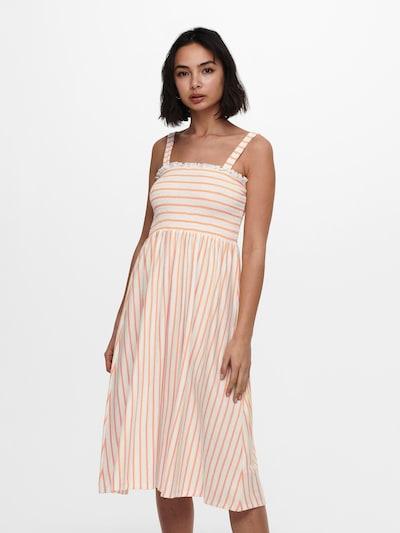 ONLY Vasaras kleita 'ONLPEPPA', krāsa - aprikožu / balts, Modeļa skats