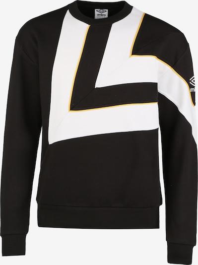UMBRO Sweatshirt 'Diamond Cut ' in schwarz / weiß, Produktansicht