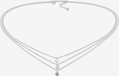 ELLI PREMIUM Halskette Choker, Edelsteinkette, Layer in silber, Produktansicht