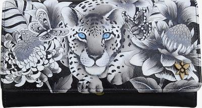 ANUSCHKA Brieftasche 'Cleopatra's Leopard' aus handbemaltem Leder in mischfarben, Produktansicht