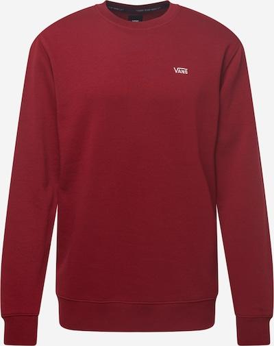 VANS Суичър в карминено червено / бяло: Изглед отпред