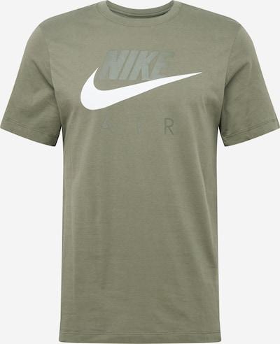NIKE T-Shirt in oliv / weiß, Produktansicht