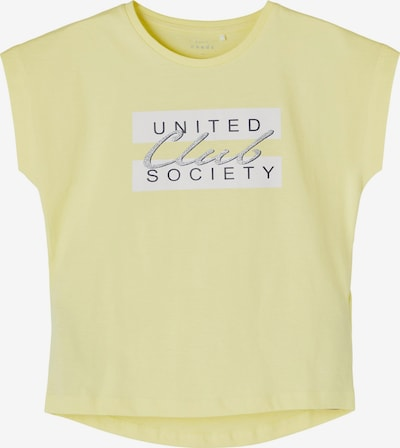 Maglietta 'Violet' NAME IT di colore giallo chiaro / nero / bianco, Visualizzazione prodotti