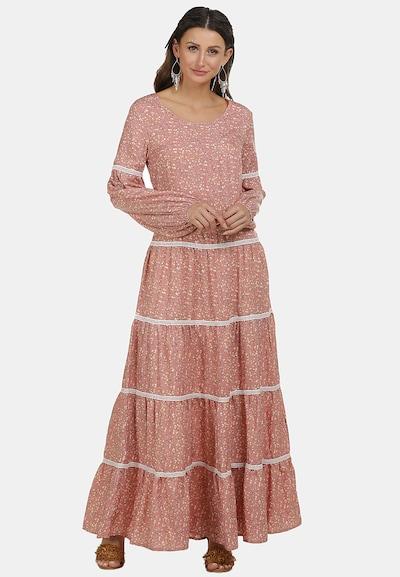 usha FESTIVAL Kleid in gelb / altrosa / schwarz / weiß, Modelansicht