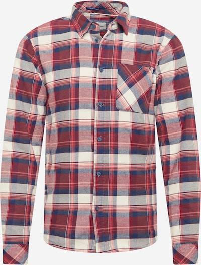 BLEND Overhemd in de kleur Beige / Blauw / Knalrood, Productweergave