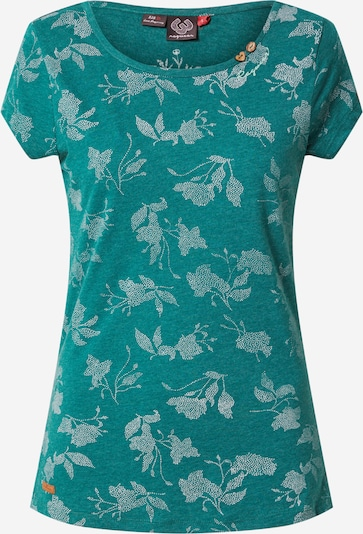 Ragwear T-shirt i mörkgrön / vit, Produktvy