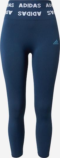 Pantaloni sport ADIDAS PERFORMANCE pe navy / albastru deschis, Vizualizare produs