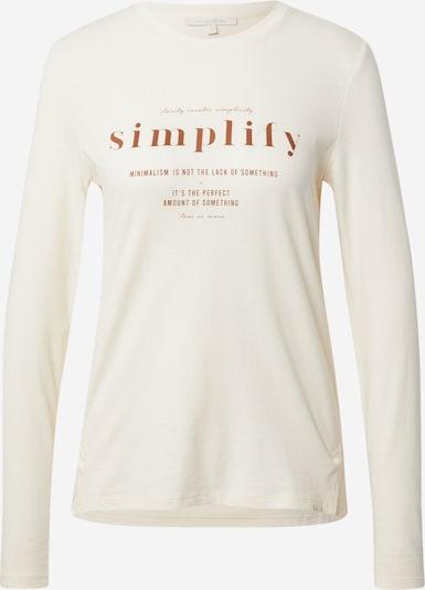 TOM TAILOR DENIM Shirt in beige / rostbraun, Produktansicht