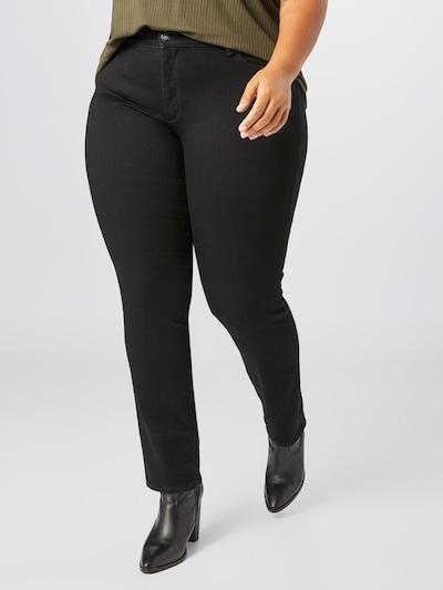 ONLY Carmakoma Jeans 'Wilma' in black denim, Modelansicht