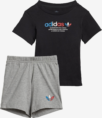 ADIDAS ORIGINALS Shorts und T-Shirt Set in schwarz, Produktansicht