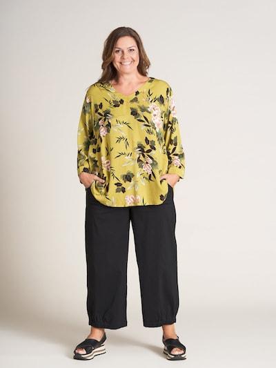 GOZZIP Bluse 'Anne' in gelb / mischfarben, Modelansicht