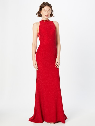 mascara Evening Dress in Red, View model