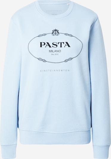 EINSTEIN & NEWTON Sweatshirt 'Pasta' in de kleur Lichtblauw / Zwart, Productweergave
