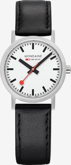 Mondaine Damen-Uhren Analog Quarz ' ' in schwarz / silber, Produktansicht