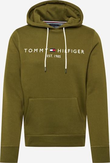 TOMMY HILFIGER Mikina - námornícka modrá / olivová / červená / biela, Produkt
