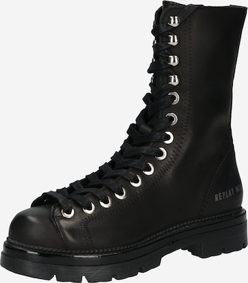 REPLAY Lace-Up Ankle Boots 'WAYLAND' in Black