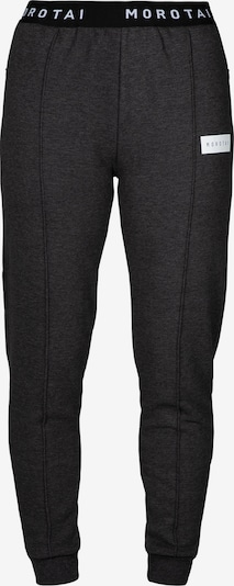 MOROTAI Jogginghose ' Cropped Pleat Pants ' in grau, Produktansicht