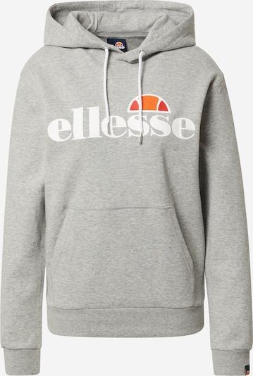 ELLESSE Sweat-shirt en gris chiné / orange / blanc, Vue avec produit