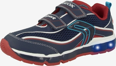 GEOX Sneaker 'J Android B. C' in blau / rot / weiß, Produktansicht