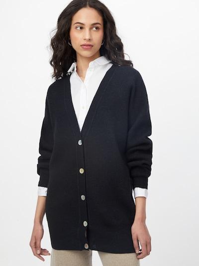 IVY & OAK Плетена жилетка 'LAMPONE' в антрацитно черно: Изглед отпред