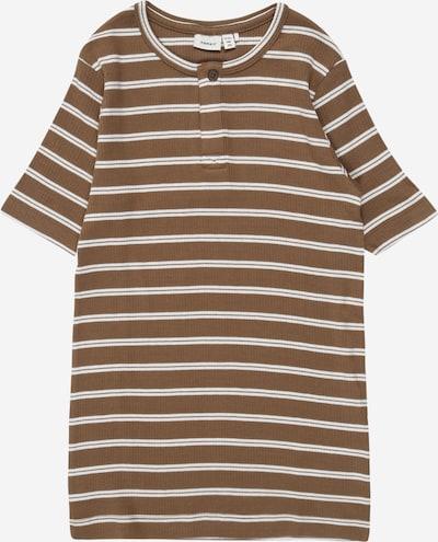 NAME IT Camiseta 'JACO' en marrón / blanco, Vista del producto