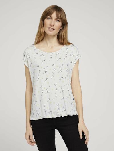 TOM TAILOR Shirt in de kleur Geel / Zwart / Wit: Vooraanzicht