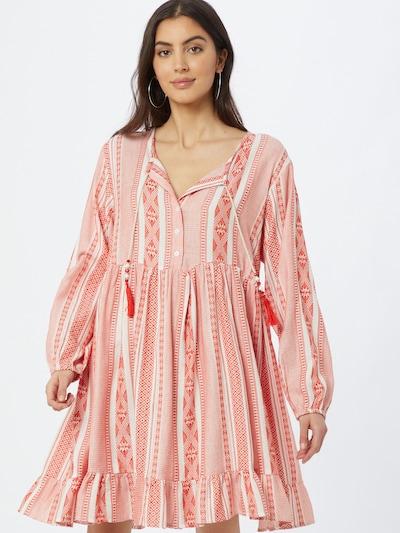 Zwillingsherz Košilové šaty 'Nala' - červená / bílá, Model/ka