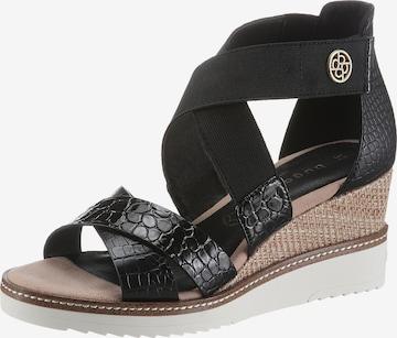 bugatti Sandalette in Schwarz