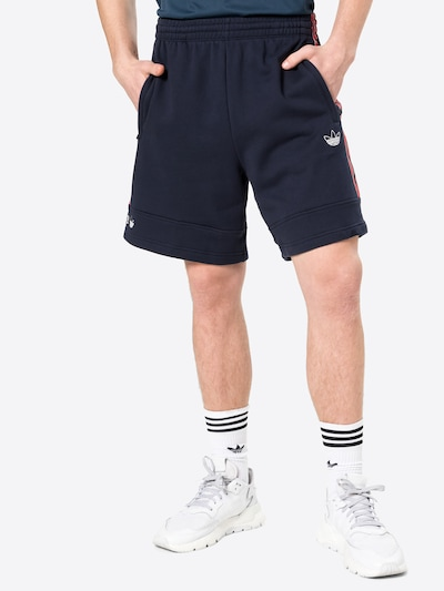 Pantaloni ADIDAS ORIGINALS pe bleumarin / roșu / alb, Vizualizare model