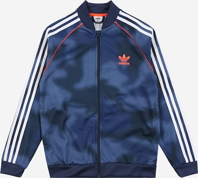 ADIDAS ORIGINALS Jacke in blau / rauchblau / orange / weiß, Produktansicht