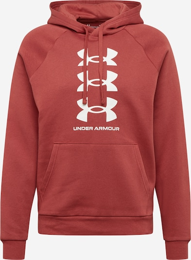 UNDER ARMOUR Športna majica 'Rival' | rdeča / bela barva, Prikaz izdelka