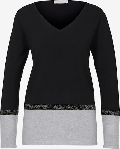 heine Pullover in grau / schwarz, Produktansicht