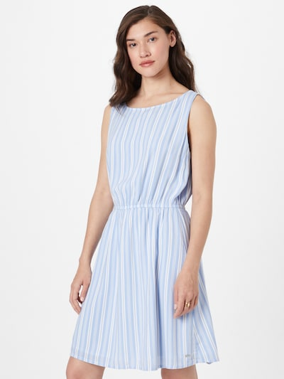 Rochie TOM TAILOR DENIM pe albastru deschis / alb, Vizualizare model