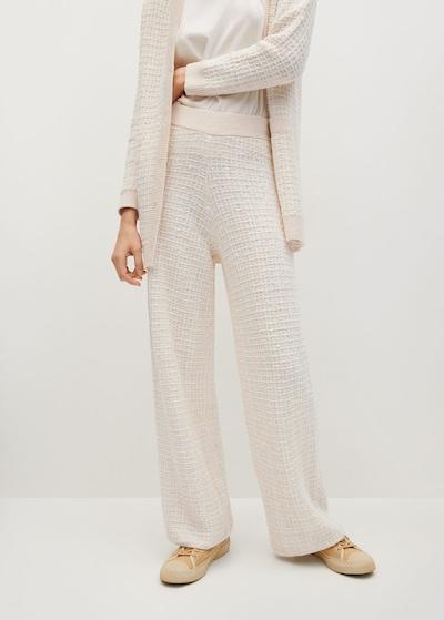 MANGO Broek 'gatsby' in de kleur Nude / Wit, Modelweergave