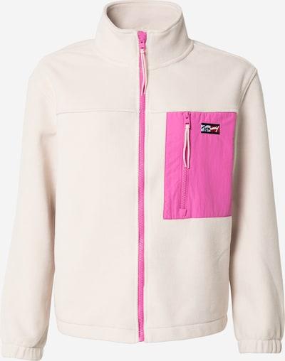 Tommy Jeans Fleecejacke in beige / hellpink, Produktansicht