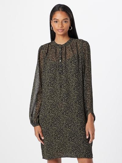 Esprit Collection Košeľové šaty - kaki / čierna, Model/-ka