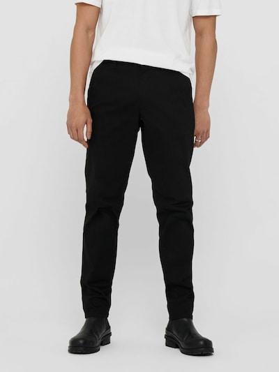Only & Sons Chinosy 'Will' w kolorze czarnym, Podgląd na modelu(-ce)