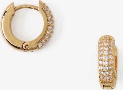 Orelia Boucles d'oreilles 'Huggie Hoop' en or / transparent, Vue avec produit