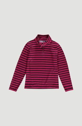 O'NEILL Athletic fleece jacket 'Stripe Half Zip' in Pink
