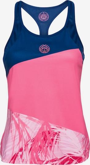 BIDI BADU Tennis-Top Fleur Tech mit modischem Batik-Design in blau / pink, Produktansicht