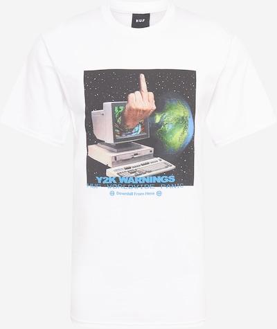 HUF T-Shirt en nude / bleu roi / anthracite / kiwi / blanc, Vue avec produit