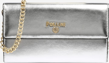 POLLINI Clutch 'PORTAFOGLI' in Silber