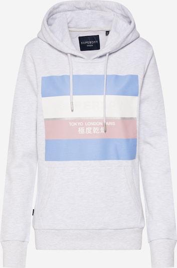 Superdry Sweatshirt in de kleur Lichtblauw / Grijs gemêleerd / Rosé / Wit, Productweergave