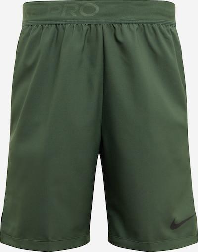 NIKE Pantalon de sport 'Flex Vent' en vert foncé / noir, Vue avec produit