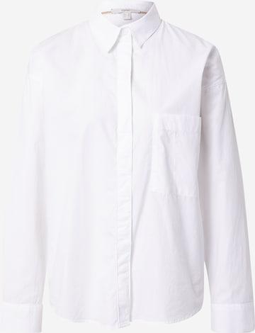 ESPRIT Bluse in Weiß