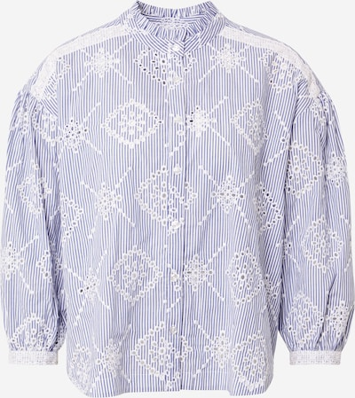 Twinset Блуза 'CAMICIA' в синьо / бяло, Преглед на продукта