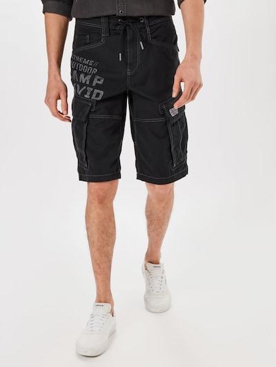 Pantaloni cu buzunare CAMP DAVID pe negru, Vizualizare model