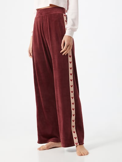 ABOUT YOU x hunkemöller Trousers in Wine red, View model